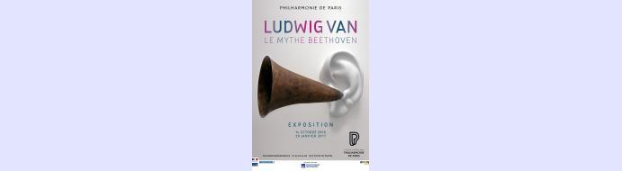 Visite de l'exposition 'Ludwig van le mythe Beethoven' à la Philharmonie de Paris le 18 janvier 2017
